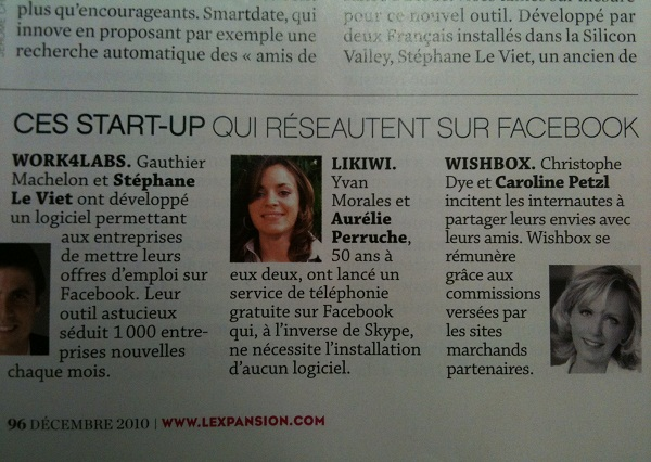 Likiwi : Call for Free dans le magazine l'Expansion