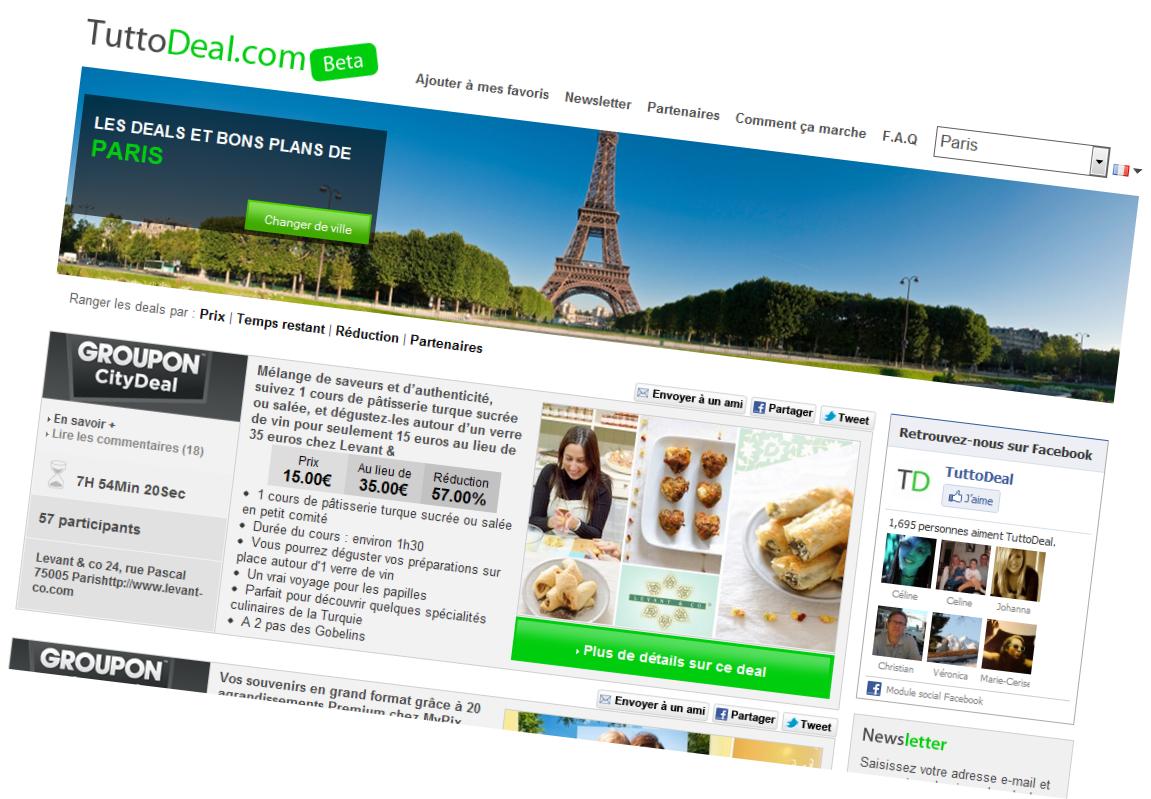 Site TuttoDeal : Agrégateur Achats Groupés
