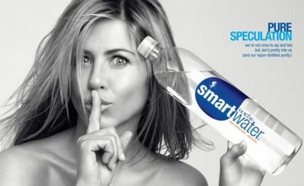 Sextape Jennifer Aniston - Publicité smartwater