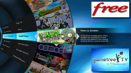 Free lance GameTree Tv sur la freebox revolution