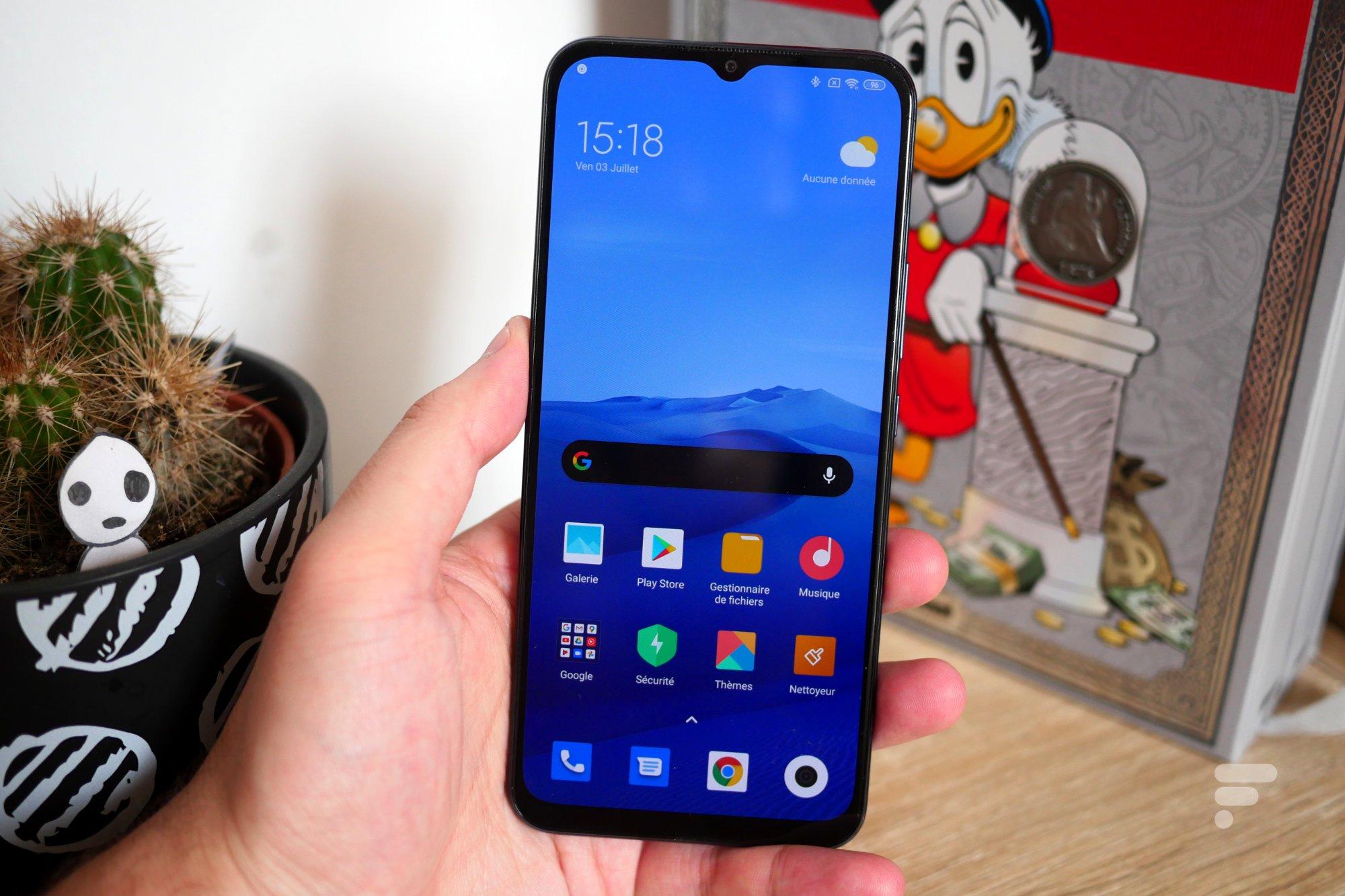 L'écran du Xiaomi Mi 10 Lite 5G